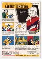 - BUVARD ALBERT EINSTEIN - Édité Par Le Haut Comité D'Étude Et D'Information Sur L'Alcoolisme SANTÉ SOBRIÉTÉ N° 3 - - Buvards, Protège-cahiers Illustrés