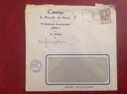 Paris Carrere Fleurisre Du Marais Interflora - Marcophilie (Lettres)