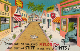 Comics Humor Comic Comique Humour - In Florida, Stiff In All The Joints - No. 744 - Unused - 2 Scans - Humour