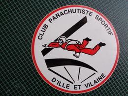 AUTOCOLLANT CLUB PARACHUTISME SPORTIF D'ILE ET VILAINE - Stickers