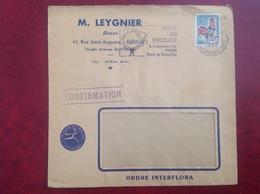Paris Leygnier Fleurs Interflora - Marcophilie (Lettres)