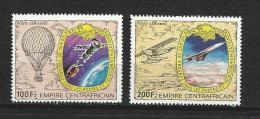 """Centrafrique Aerien YT 187 & 188 (PA) """" Télécommunications """" 1978 Neuf** - Repubblica Centroafricana"""