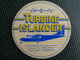 AUTOCOLLANT TURBINE ISLANDER - Autocollants