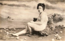 Japon - La Geisha Au Bain - Geisha In The Bath - Japon