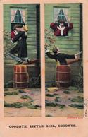 Comics Humor Comic Comique Humour - Goodbye Little Girl - Bamforth & Co. Series No. 1067 - 2 Scans - Humour