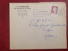 Grenoble Avenier Guerre - Marcophilie (Lettres)