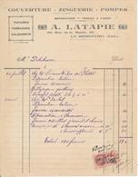 LA RICHE, Indre Et Loire - Couverture, Zinguerie, Pompes A. Latapie, 1940 - France