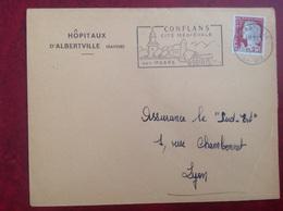 Conflans Hôpitaux D' Albertville - Marcophilie (Lettres)