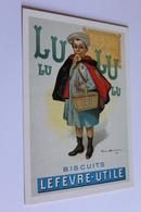 Publicite Reproduction D Affiche  10778 Lu Petit Ecolier F. Bouisset CPM Edit CLOUET - Publicité