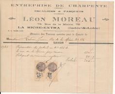 LA RICHE, Indre Et Loire - Entreprise De Charpente Léon Moreau, 1931 - France