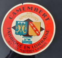 ANCIENNE ETIQUETTE CAMEMBERT AUX ARMES DE LOISEY FABRIQUE EN LORRAINE IMPRIMERIE A. WATON ANTIQUE CHEESE LABEL 55 - Cheese