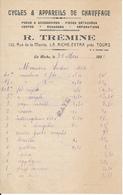 LA RICHE, Indre Et Loire - Cycles & Appareils De Chauffage R. Trémine, 1932 - France