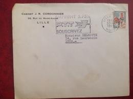 Lille Cordonnier - Marcophilie (Lettres)