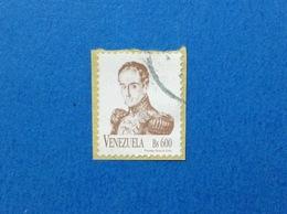 1997 VENEZUELA FRANCOBOLLO USATO STAMP USED ORDINARIO 600 BS - Venezuela