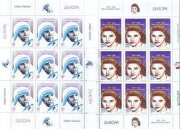 MK 1996-74-5 CEPT EUROPA, NORTH MAKEDONIA, 2MS. MNH - Mutter Teresa