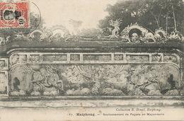CP Stamped Pakhoi Shanghai  Vers Instituteur Saint Aubin à Verton 62. CP Haiphong . Dragon . Pagode Maçonnerie - Chine
