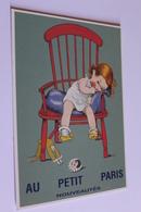 Publicite Reproduction D Affiche  10702 Au Petit Paris Vers 1910   CPM Edit CLOUET - Publicité