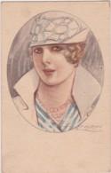 Bu - Cpa Illustrée MAUZAN - Belle Femme Au Collier Et Au Chapeau - Mauzan, L.A.