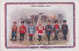 Bu - Cpa Militaria Illustrée AA Nash - Nous Sommes Sept - We Are Seven (ALLIES Series 833) - Patriottiche