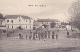 87 - NEXON - PLACE DE LA MAIRIE - CACHET HOPITAL TEMPORAIRE DE NEXON - Autres Communes