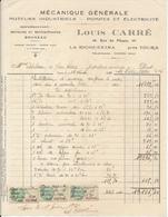 LA RICHE, Indre Et Loire - Mécanique Générale Louis Carré, 1930 - France