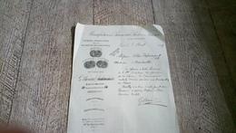 Facture Manufacture Panneaux Poëles Faïence Brocard Usine à St Maurice Seine 1909 Paris Bld Lenoir - France