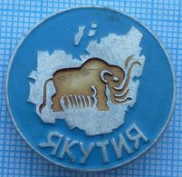 USSR / Badge / Soviet Union / RUSSIA. Yakutia.  Mammoth. Ancient Elephant 1970s - Animals