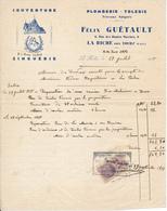 LA RICHE, Indre Et Loire - Couverture, Plomberie Tolerie, Félix Guétault, 1938 - France
