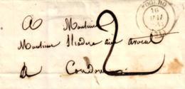 Nogaro, Brief, 1843 - Marcophilie (Lettres)