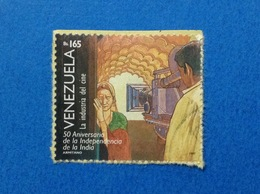 1997 VENEZUELA FRANCOBOLLO USATO STAMP USED INDIA CINEMA 165 BS - Venezuela