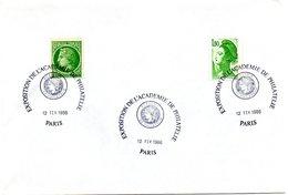PARIS 1986 = CACHET  Illustré CONCORDANT CERES = EXPOSITION DE L'ACADEMIE DE PHILATELIE - Marcophilie (Lettres)