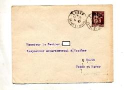 Lettre  Cachet Saint Lagny + Flamme Muette Melun - Storia Postale