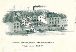 Lettre Photo Usine 1901 / 75 PARIS Rue J. César / F. ROCHE / Fabrique D'ébénisterie Et Sièges - France