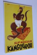 Publicite Reproduction D Affiche  10453 Slip Kangourou  Seguin   CPM Edit CLOUET - Publicité