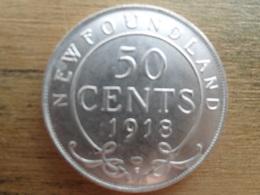 New Foundland  50  Cents  1918 C  Km 12 Ttb - Canada