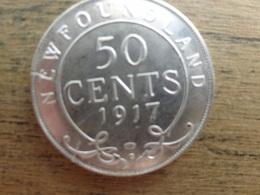 New Foundland  50  Cents  1917 C  Km 12 Ttb - Canada