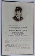 Faire Part Décès 1955 Marcel Ledot 1955 Philippeville Guerre D'Algérie Légion Gendarmerie LGI Tribehou 50 Manche - Documents