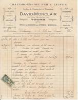 TOURS, Indre Et Loire - Chaudronnerie Fer & Cuivre - David Monclair, 1928 - France