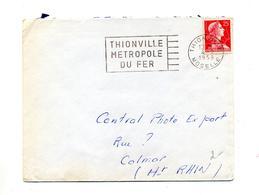 Lettre  Flamme Thionville Metropole Du Fer - Marcophilie (Lettres)