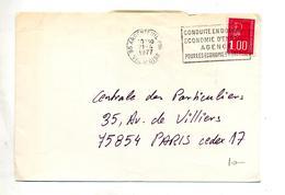 Lettre  Flamme Argenteuil Conduite En Douceur  Theme Voiture - Marcophilie (Lettres)