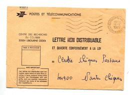 Lettre Non Distribuable  Flamme Muette Libourne - Marcophilie (Lettres)