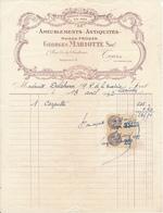 TOURS, Indre Et Loire - Ameublements Antiquités - Georges Mariotte, 1932 - France