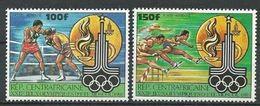 "Centrafrique Aerien YT 224 & 225 (PA) "" JO De Moscou "" 1980 Neuf** - Central African Republic"