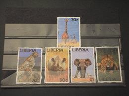 LIBERIA - 1995 ANIMALI 5 VALORI - NUOVI(++) - Liberia