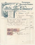 TOURS, Indre Et Loire - Entreprise De Pompes Funèbres Louis Pénissard, 1935 - France