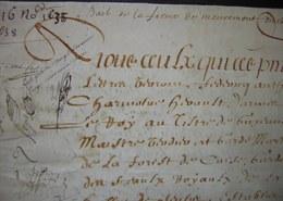 1638 Parchemin De 12 Pages Bail De La Ferme De Mermont Crépy Oise à Pierre Lavoisier Et Augustin Béranger Par Charmoluë - Manuscripts
