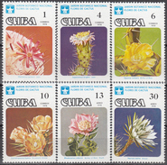 CUBA 1978, FLORA, FLOWERS, CACTUSES, COMPLETE MNH SET, GOOD QUALITY - Cuba