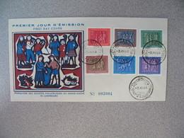 FDC  Luxembourg 1953 N° 476 à 481 Oeuvres Sociales - Caritas - Fédération Des Sociétés Philatéliques Du Grand-Duché - FDC