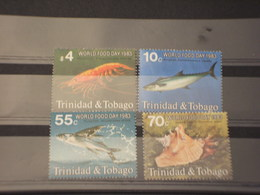TRINIDAD - 1983 FAUNA MARINA 4 VALORI - NUOVI(++) - Trindad & Tobago (1962-...)