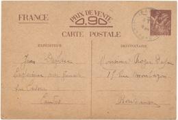 FRANCE. POSTAL STATIONARY. 1940. - Enteros Postales